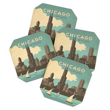 Anderson Design Group Chicago Coaster Set