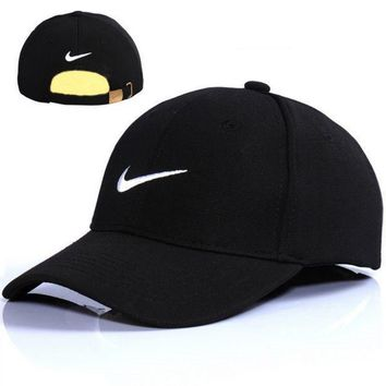 PEAPDQ7 Nike Embroidered Cotton Adjustable Black Golf Baseball Cap