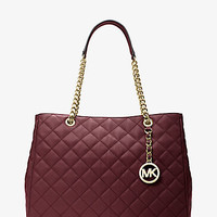 Susannah Large Quilted-Leather Tote | Michael Kors