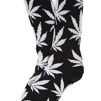 HUF Socks Plantlife in Black and Grey