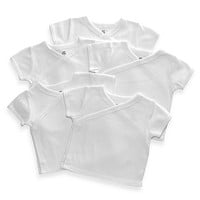 Little Tots 5-Pack White Short Sleeve Tees