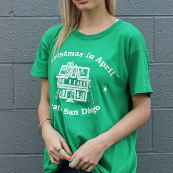"""Christmas in April"" Vintage Tee"