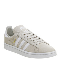 Adidas Campus Trainers Clear Brown White - Hers trainers