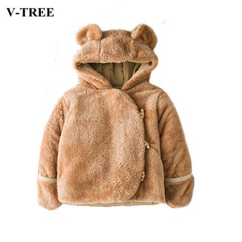 Baby Winter Suit Warm Toddler Snowsuit Thicken Jacket For Baby Boys Coats Girls Outerwear Plush Children Coats Baby Poncho