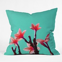 Deb Haugen North Shore Plumeria Throw Pillow