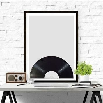 Retro Art Poster LP Record Canvas Prints Wall Art Decor , Long-Playing Record Poster Music Pictures Prints Wall Art Home Decor