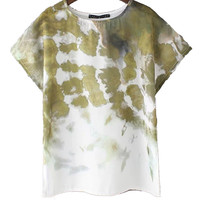 Fashion Tie-dye Printing Short-sleeved T-shirt For Women