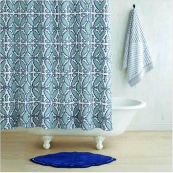 Khoma Slate Shower Curtain by John Robshaw