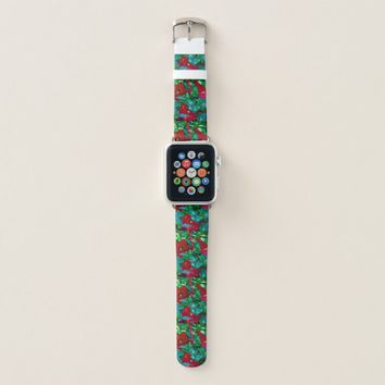 Giant Red Poppies Apple Watch Band
