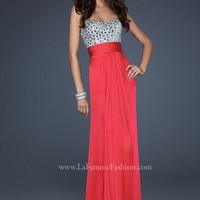 La Femme 17909 Watermelon Evening Gown
