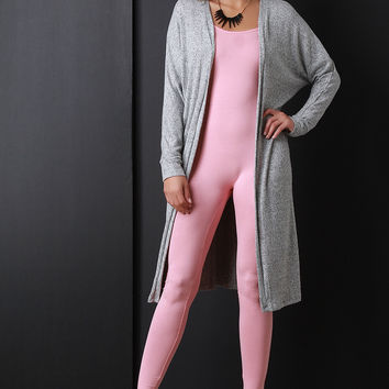 Soft Knit Long Line Cardigan