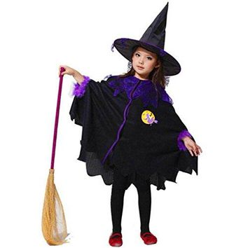 Coerni Premium Halloween Baby Girl Costume Cloak+Hat Set of 2