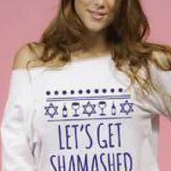 Let's Get Shamashed, Chanukah Funny ugly Hanukah shirt