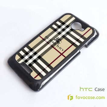 BURBERRY Pattern London HTC One X, M7, M8 Phone Case Cover