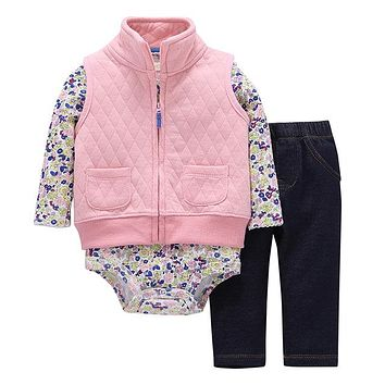 Abacaxi Kids Pink 'n Flowers 3pc Set 2018