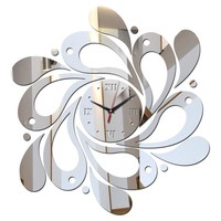special offer 3d diy stickers wall clock clocks home decoration mirror acrylic sticker Furniture modern style free shipping
