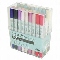 Too. Copic Marker Set - Ciao 36 Colors Pen Set D - Japan Drawing Markers, Anime, Animation, Manga Art Supplies - Non-Toxic, Entry Model