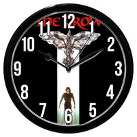 The Crow Logo Clock / Frisbee Golf Disc Movie by DigitalKanvas