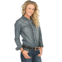 Women's Stetson Denim Snap Top