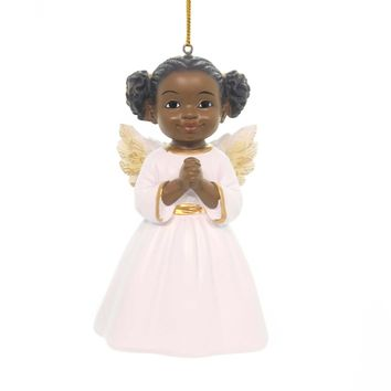 Holiday Ornaments PRAYER ANGEL ORNAMENT African American Christmas 18011