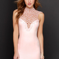 Renaissance Court Lace Blush Pink Dress