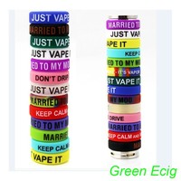 20 pcs Lot Multi-color Anti-slip Ring Silicon Finger Ring Vape Band Covering Rubber Ring For Mechanical Mod comfortable feel