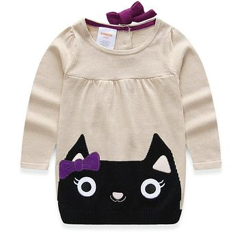 Girl Clothing Dress Baby Girls Bow kitty Sweater Christmas Dress Girls Dress Girl Clothes Dresses