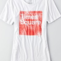 AEO Women's Tailgate For  Times Square T-shirt (White)
