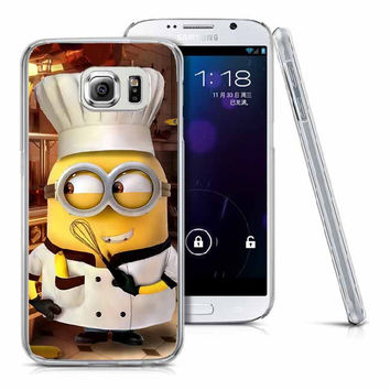 Despicable Me Minion Chef Hard PC Phone Case for Samsung Galaxy S-Series, A-Series, & J-Series SmartPhones