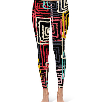 Abstract Squares Leggings
