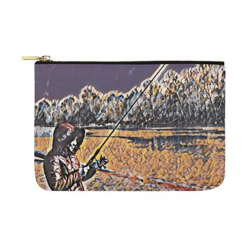 Levi Thang Fishing Design 3 Carry-All Pouch 12.5''x8.5''