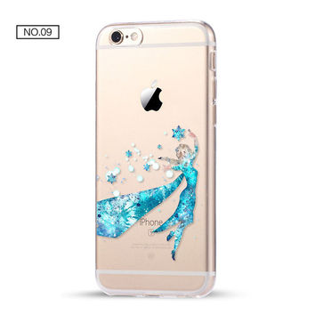 Elsa Clear Soft Disney Phone Case For iPhone 7 7Plus 6 6s Plus 5 5s SE C