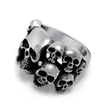 Gift New Arrival Jewelry Stylish Shiny Punk Vintage Skull Ring [6542655747]