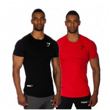 Hot Sell 2015 Summer Top Cotton Gasp  T Shirts Men Gymshark Muscle Men Shirt Fitness Bodybuilding Man Short Sleeve Tees