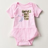 Ghouls Have More Fun, Funny Halloween Baby Girl Shirt