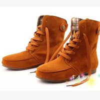 Women new fashion spring autumn 2015 martin boots boots casual shoes platform lace-up large plus size 40-43