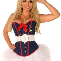 Daisy Corset 4 PC Sexy Marine Costume with Skirt