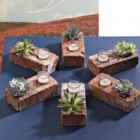 Make a Brick Succulent Planter/Candle Holder » Curbly | DIY Design Community « Keywords: DIY, bricks, Candles, candle-holder