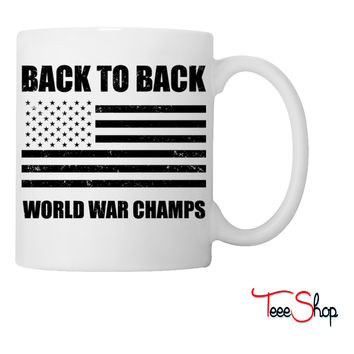 Back to Back World War Champs Coffee & Tea Mug - white /