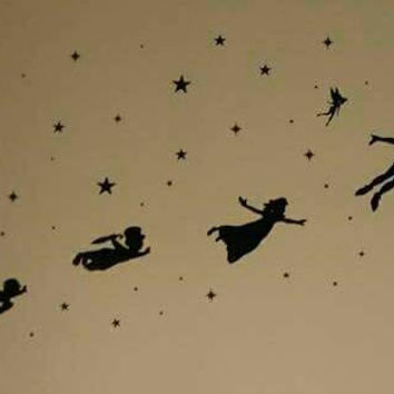 Peter Pan Vinyl Silhouette with stars