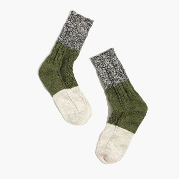 Marled Colorblock Trouser Socks : shopmadewell socks & tights | Madewell