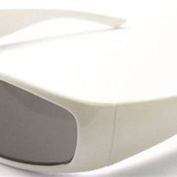 Boas Xtreme Safety Glasses, White Frame, Smoke Lens
