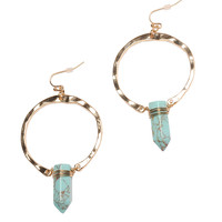 Teal Stone Age Earrings