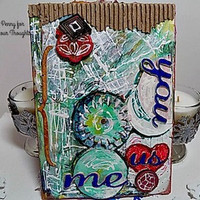 You,Me,Us Mixed Media Canvas Board. Ready to Ship