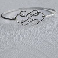Silver Infinity Bangle, Triple Infinity, Sterling Bangle, Sterling Infinity, Wedding Bangle, Sterling Infinity Bangle, Three, Love Bangle