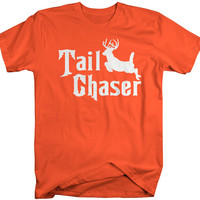 Men's Funny Hunting T-Shirt Tail Chaser Deer Offensive Shirt Hunter Hilarious Shirts Hunters Gift Idea