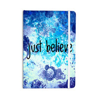 "Ebi Emporium ""Just Believe"" Blue Purple Everything Notebook"