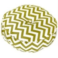 "20"" Round Floor Pillow - Zig Zag fabric - Village Green.- Greendale Home Fashions-For the Home-Pillows, Throws & Slipcovers-Pillows"
