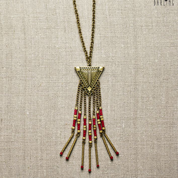 Tokyo Darling Triangle & Beads Long-Strand Necklace