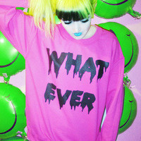 WHATEVER FOREVER SWEATER  — NIKKI LIPSTICK